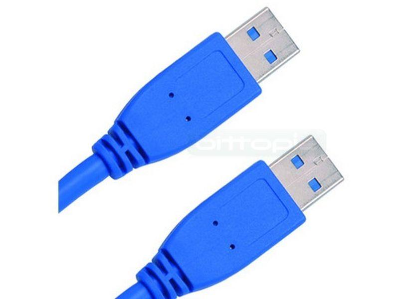 cable USB3.0 Tipo A-A Macho Macho 2m. Azul - cable USB3.0 Tipo A-A Macho Macho 2m. Azul
