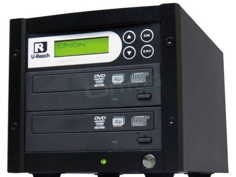 UReach 1:01 DVD sin disco - Duplicador autónomo de soportes CD y/o DVD. que no requiere el uso del PC.
