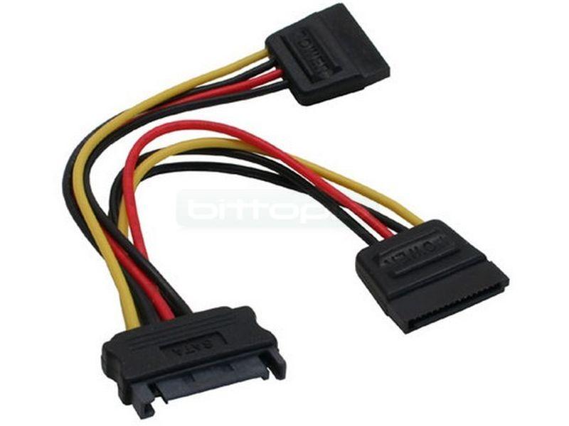 OEM Ladrón alimentación interna SATA-Power 2xSATA - Ladron alimentacion SATA-Power a 2xSATA-Power. SATA macho / SATAs hembras. Cable de 150mm