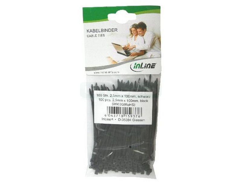 OEM Bolsa 100 bridas negras 100mm x 2,5mm - Bridas negras de 100mm x 2.5mm. Altamente resistentes.