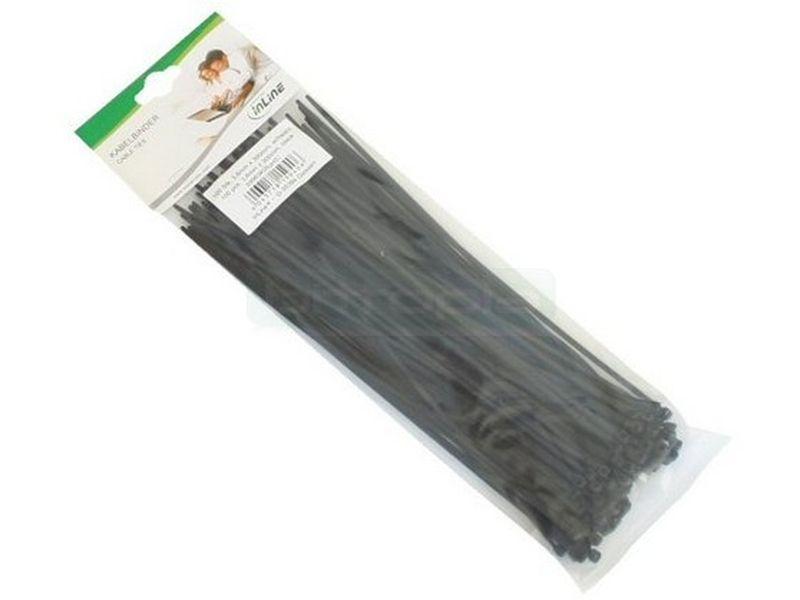 Bolsa 100 bridas negras 300mm(largo)x3,6mm(ancho)