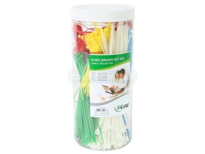 OEM Caja 800 bridas con cutter, varios colores - Completo set de bridas de diferentes medidas y colores. Incluye cutter.