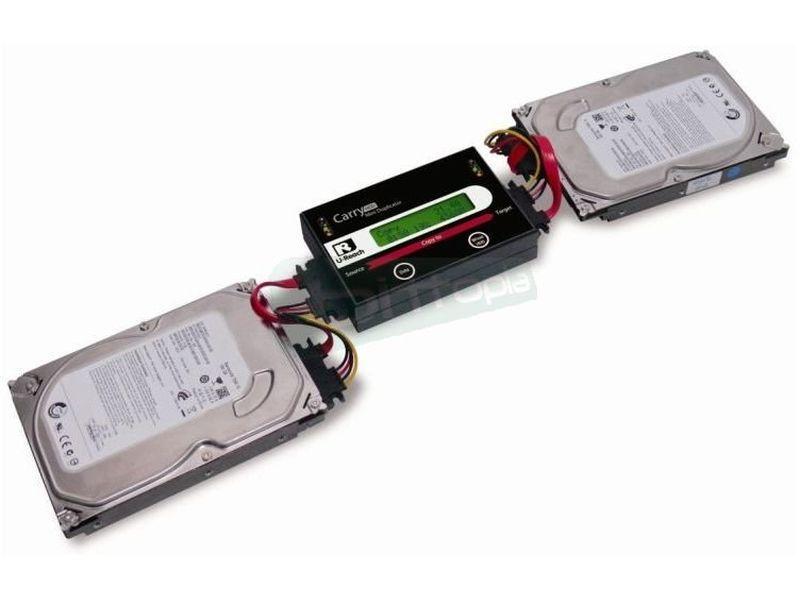 Duplicadora Portátil Ureach para HD IQ-112 - Duplicador portátil de discos duros, que no requiere el uso del PC.