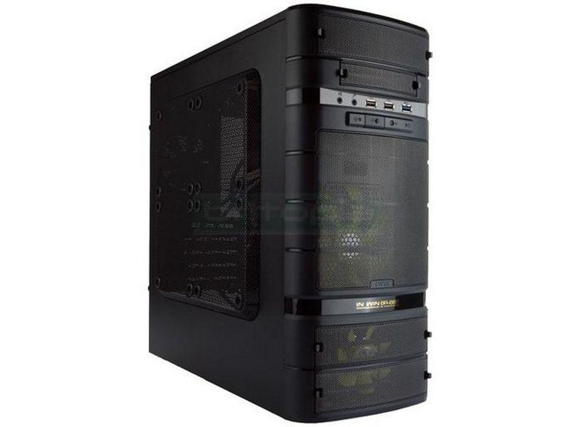 Inwin BR665 Caja Micro-ATX - Caja de color negro extremadamente potente y compacta para placa base Micro-ATX. Diseño sobrio, con elegantes formas redondeadas. Equilibrio PERFECTO entre dimensiones, potencia y refrigeración.