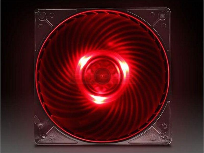 SilverStone AP121-RL Ventilador Luz Roja - Con luz roja, ideal no sólo como ventilador de entrada, también es perfecto para radiadores y disipadores de alta densidad. Puede crear suficiente presión como para empujar el aire hasta un metro de distancia con una velocidad del ventilador y sonoridad mínimas.