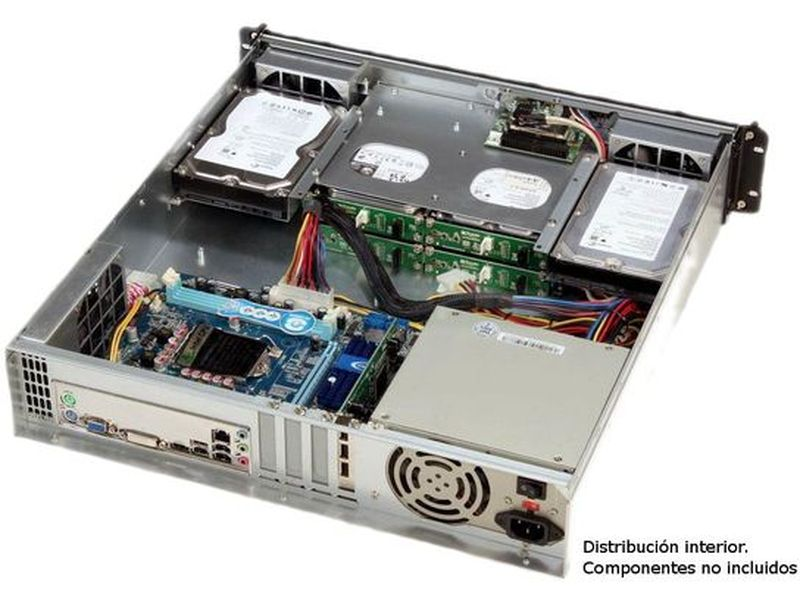 Travla T-2340. Caja Rack 2U 0W 4 HD Hot-Swap Micro -ATX