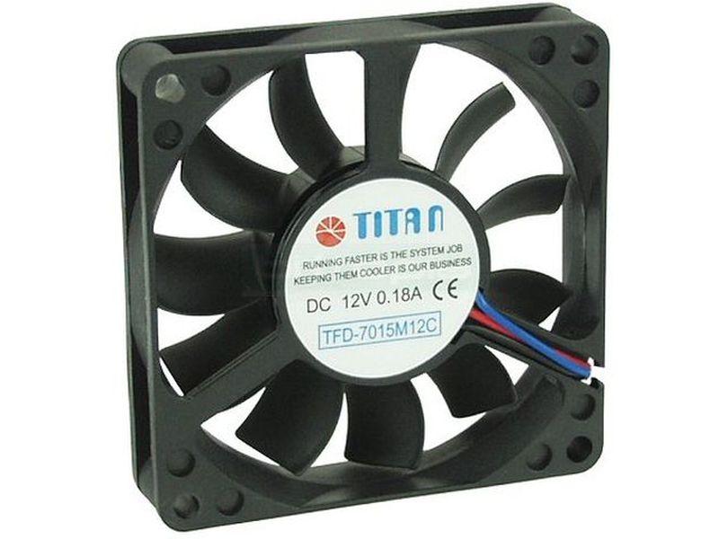 TITAN Ventilador 70x70x15 34 dBa - Ventilador en medida de 70mm para caja. Nos ofrece una inmejorable refrigeración dentro de sus pequeñas dimensiones. Se caracteriza por integrar rodamientos especializados para dotarle de una larga vida útil.