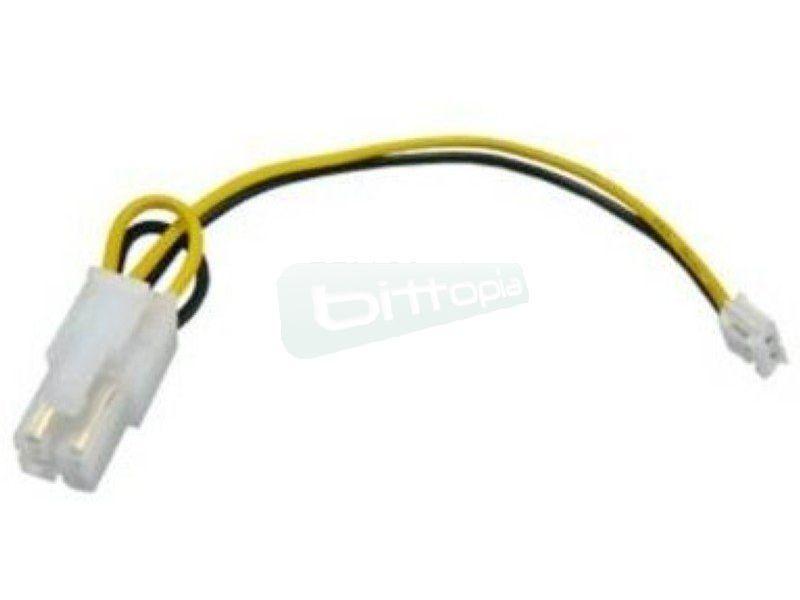 OEM cable 4-Pin P4 miniPower para PicoPSU 80W - Cable opcinal para fuente de alimentación PicoPSU que ofrece un conector para la alimentación de la placa madre de P4 de 12V