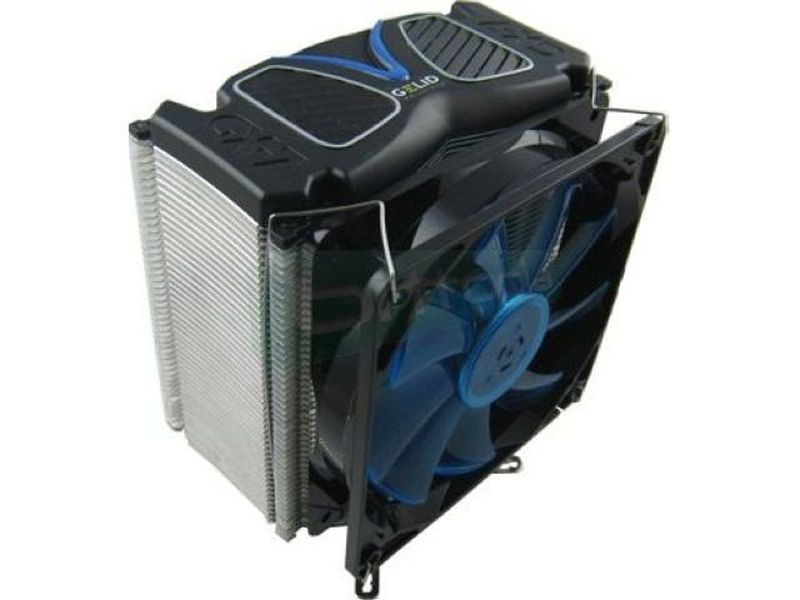Gelid GX-7 - Cooler para CPU compatible con socket Intel 775, 1155, 1156, 1366 y AMD AM2, AM2+, AM3, AM3+, FM1. Con 7 tubos heat-pipe y ventilador de 120 mm regulado por PWM con led azul.