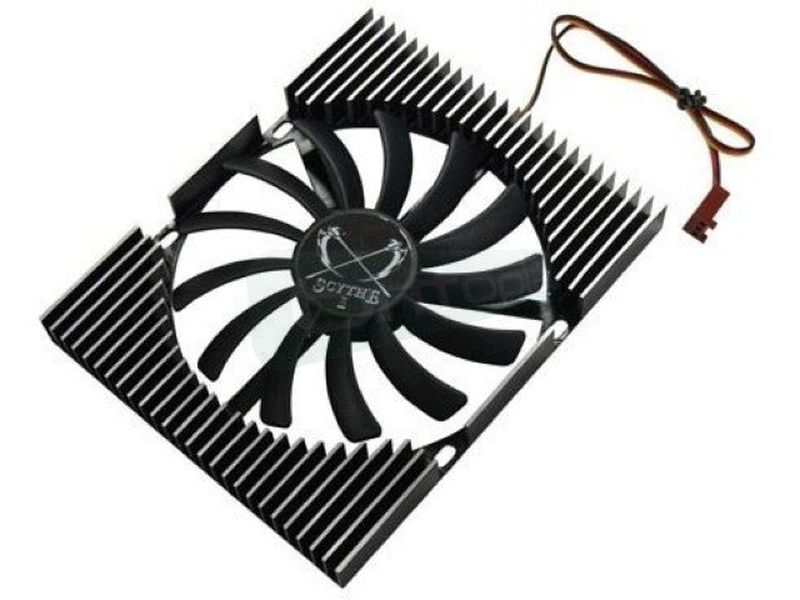 Scythe Ita Kaze Slim HD Cooler - Cooler para disco duro con original diseño para cubrir mayor superficie del disco. Incluye ventilador silencioso de tan solo 12mm de ancho.