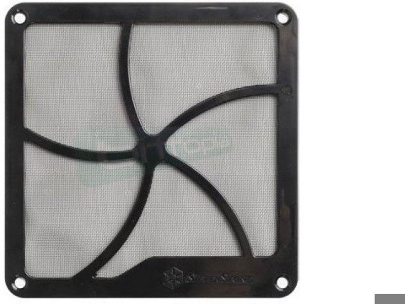 SilverStone FF122B Rejilla+Filtro magnetico - Filtro para ventiladores de 120mm. Incorpora en su marco un imán para que pueda ser fácilmente instalado.