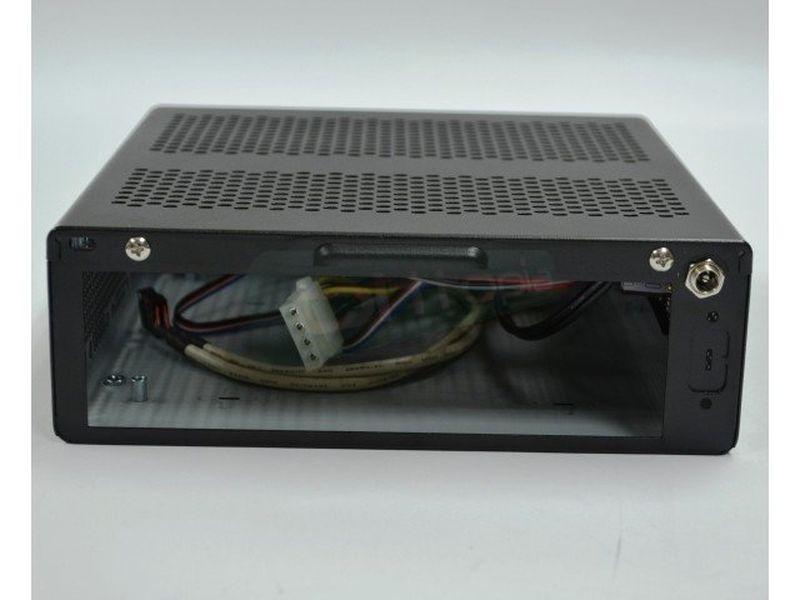 Morex Caja Mini-ITX 557D 60W - Caja compacta en formato Mini-ITX preparada para montaje en pared. Incluye fuente de alimentación.