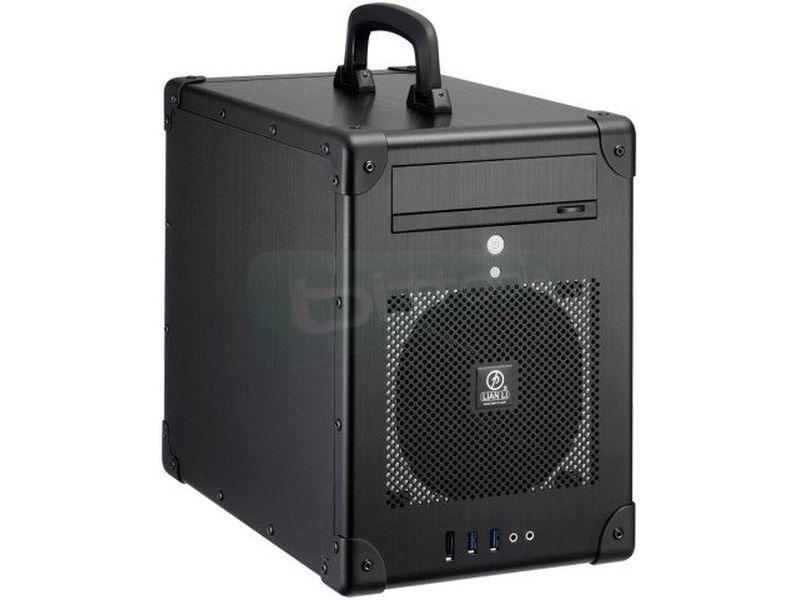 Lian-Li PC-TU200B Caja cubo negra con asa - Original diseño en forma de maletín que esconde importantes características en su interior. Compatible con placas Mini-ITX.