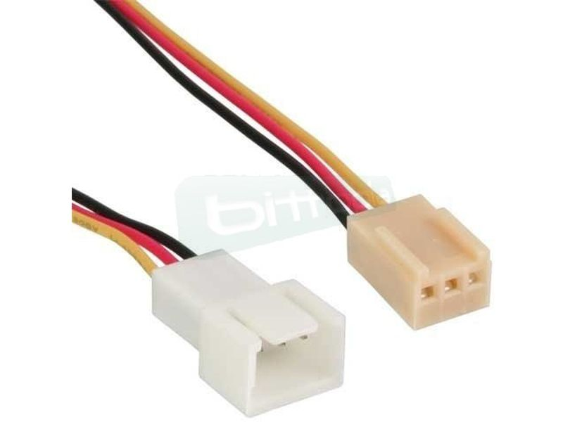 OEM Cable alargador Molex 3-pin 30cm - Alargador del cable de alimentación para ventiladores de 3-Pin. 30cm.