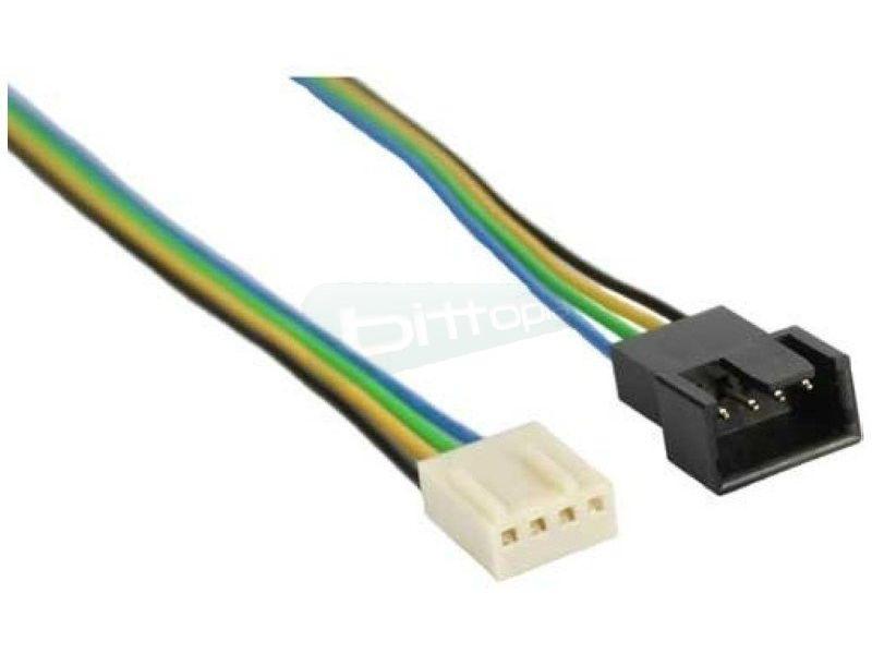 OEM Cable alargador Molex 4-pin PWM 30cm - Alargador del cable de alimentación para ventiladores de 4-Pin PWM. 30cm.
