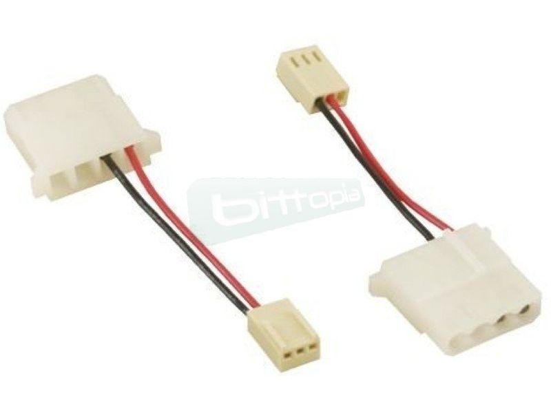 OEM Cable adaptador 4pin a 3pin - Cable adaptador para conectar los ventiladores de 12V DC a un molex de 3-Pin.