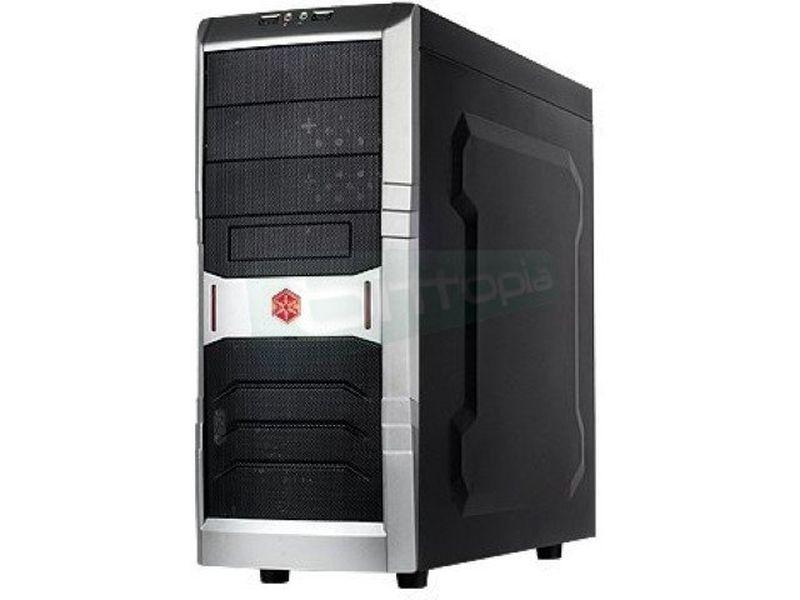 SilverStone RL01B USB 3.0 - Caja Semitorre negra con detalles en rojo. Incluye dos conexiones USB 3.0. ATX/Micro-ATX.