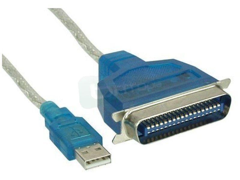 Inline 33398. Adaptador Externo USB 2.0 a puerto paralelo - Cable adaptador que nos ofrece la posibilidad de obtener un puerto paralelo de un USB 2.0.