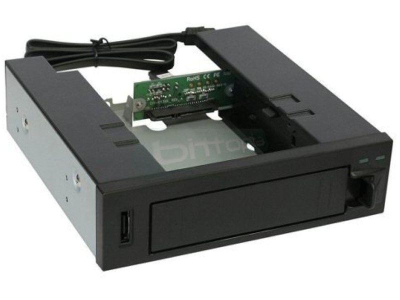 Inline 37556 Frontal de 5.25 HotSwap para discos - Adaptador para bahía de 5,25