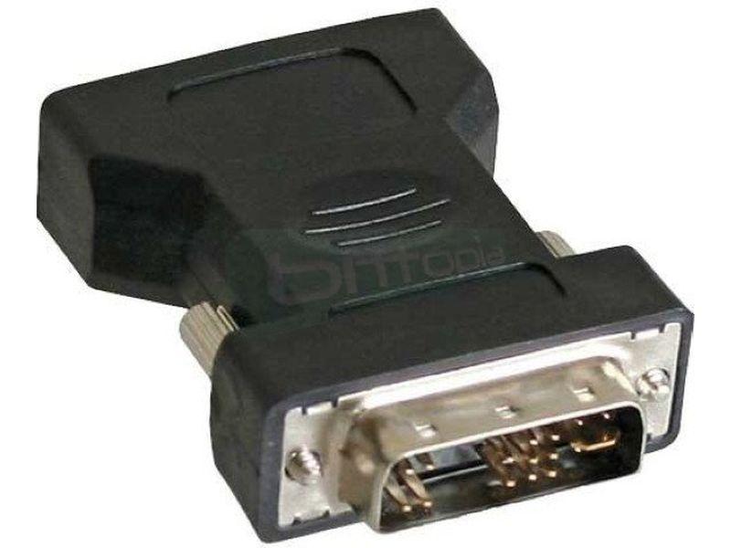 Adaptador Externo DVI-A macho a VGA 15pin Hembra