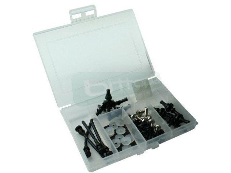 OEM Kit Antivibración para HD y Ventiladores - Kit Anti-vibración para discos duros y ventiladores. Incluye 46 piezas.