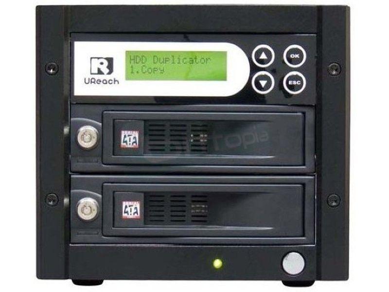 UReach duplicadora de discos duros HD-S01 - Duplicador autónomo de Discos Duros SATA 2.5 y 3.5. que no require uso del PC.