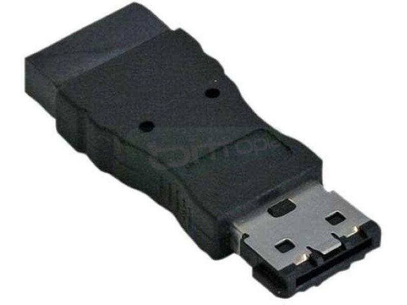Adaptador Externo eSATA a SATA - Adaptador con el que podremos conectar una caja de disco duro externa eSATA a una conexión SATA interna.