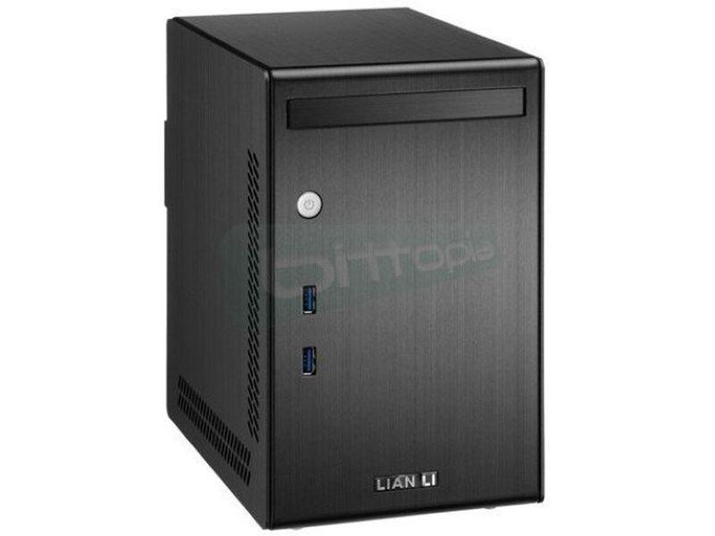 Lian Li PC-Q02B con fuente 300W. Negra. MiniTorre - Caja Minitorre fabricada en aluminio de color negro. Fuente de alimentación 300W. USB 3.0. 1 x Slim ODD. 1 x bahía interna 3,5.