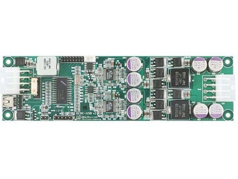F.A. Inteligente DCDC-USB-200 6-34V. Programable - Fuente interna DC-DC-USB de 150W en formato Mini-ITX. Es ideal para el montaje de equipos de mínimas dimensiones.