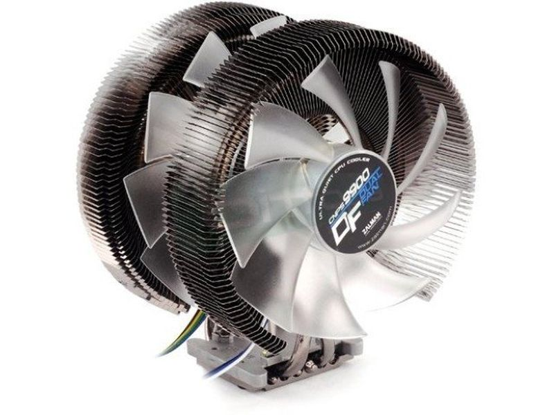 Zalman CNPS9900 DF Dual Fan - Cooler para CPU fabricado con base de cobre. Compatible con Socket FM2/FM1/AM3+/AM3/AM2+/AM2 y Socket 2011/1366/1156/1155/775.
