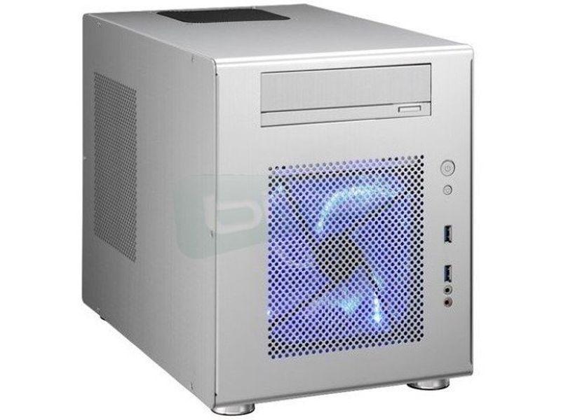 Lian Li PC-Q08A. Plata. Cubo - Caja Cubo fabricada completamente en aluminio de color plata. 2xUSB 3.0 frontales. 1 bahía externa 5,25. 6 bahías internas 3,5.