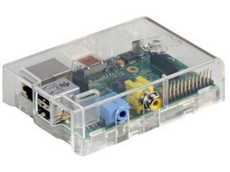 Raspberry Pi Caja+Placa B 512Mb Transparente - Barebone Raspberry Pi. ARM1176JZF-S 700 MHz, 512Mb, VideoCore IV GPU, USB, HDMI, Red RJ45 10/100. Caja Transparente.