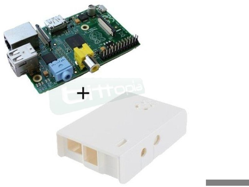 barebone Raspberry Pi con 512Mb - 2 USB Blanca