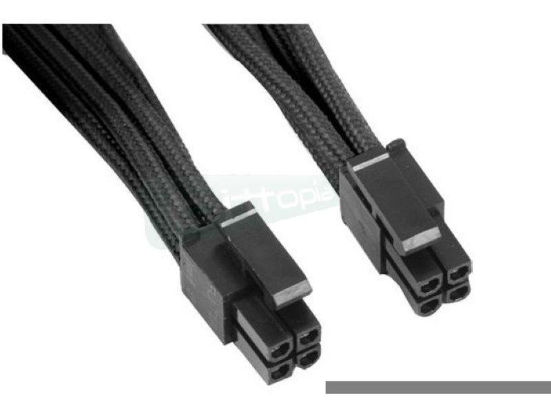 SilverStone PP07-EPS08B. Prolongador P8 a P8(4+4) - Cable alargador alimentación placa base conector 8-pin a 8-pin(4+4).