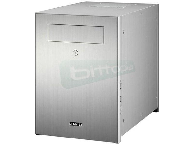 Lian Li PC-Q28A. Plata. MiniTorre - Caja MiniTorre fabricada en aluminio de color plata. Conexiones USB 3,0 y Audio HD frontales. 1 x bahía externa 5,25. 4 x bahía internas de 3,5.