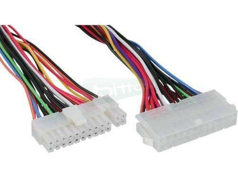 Inline 26629A. Cable alargador fuente ATX 20+4 pin - Cable alargador para fuentes de alimentación ATX de 20+4 pines a 24-pin. 45 cm.