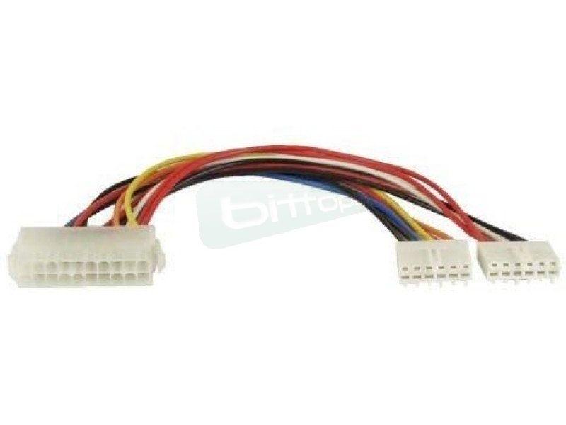 Inline 26641. Adaptador fuente ATX a fuente AT. Cable 20cm - Cable alargador de fuentes de alimentación ATX de 20 pines a placas base AT. 20 cm.