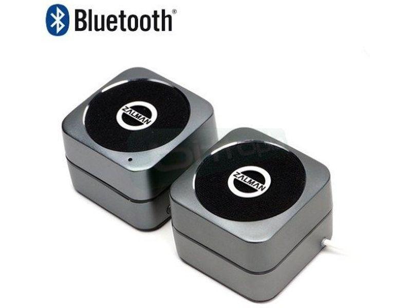 Zalman S600B Bluetooth - Sistema de altavoces 2.0. Conexión Bluetooth. Frecuencia de respuesta 100Hz - 20kHz.