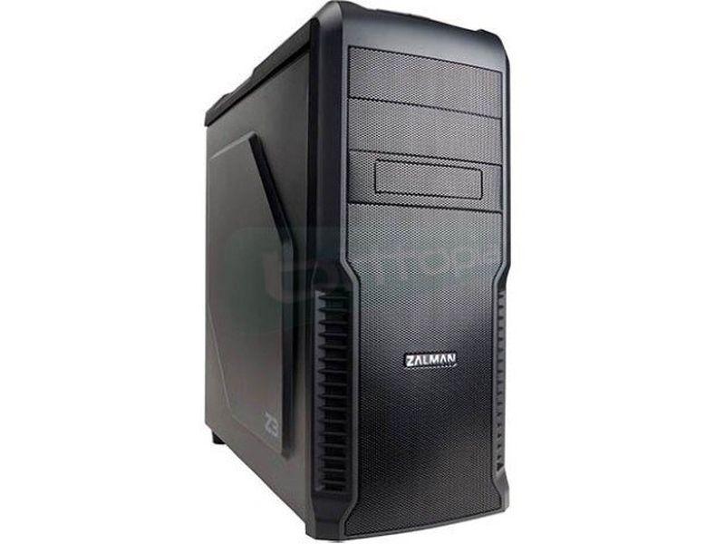 Zalman Z3 USB 3.0 Negra - Caja Semitorre ATX en color negro. Conexiones frontales: 1xUSB3.0, 2xUSB2.0, auriculares y micrófono. 2 x Bahías externas 5.25. 4 x Bahías internas 3.5.