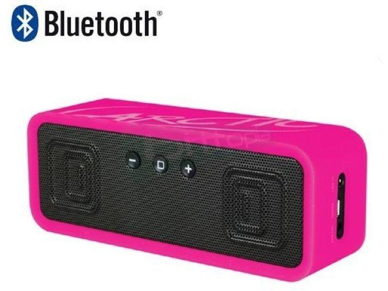 Arctic S113BT Rosa. Altavoces Bluetooth - Altavoces portátiles en color rosa. El S113 BT permite varias conexiones: Bluetooth, NFC y Jack 3,5mm. Con una frecuencia de respuesta de: 30Hz ~ 20kHz. Salida: 2 x 3W. 290gr.