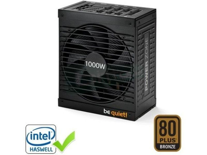 Be Quiet  Power Zone 1000W 80Plus Bronze - Fuente alimentación 1000W 80+ Bronze. Ventilador 135mm Silent Wings. Nvidia SLI Ready. AMD Crossfire.
