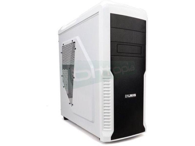 Zalman Z3 Plus USB 3.0 Blanca - Caja Semitorre ATX en color blanco. Conexiones frontales: 1xUSB3.0, 2xUSB2.0, auriculares y micrófono. 2 x Bahías externas 5.25. 4 x Bahías internas 3.5.