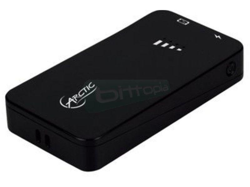 Arctic Power Bank 2000 Negro - Cargador para dispositivos con conexión Micro-USB. Fabricado en plástico de color negro.Batería 2000mAh.