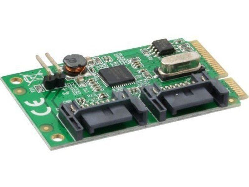 Inline 66901. Tarjeta Mini-PCIe, 2xSATA 6Gb/s - Tarjeta de expansión Mini PCIE con dos puertos SATA III.