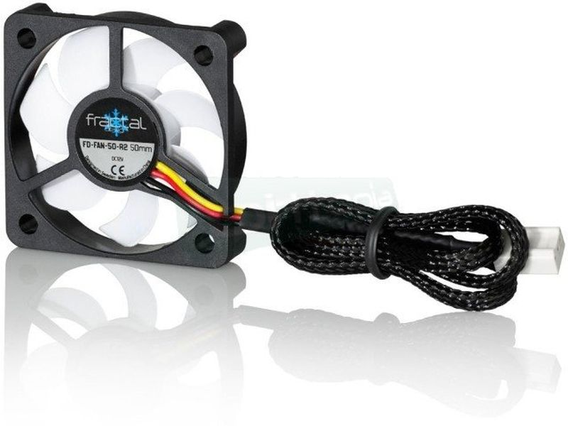Fractal Design Silent Series R2 50x50x10 - Ventilador de 50mm. 3500RPM. 20dBA. 7,64CFM. 3-pin.