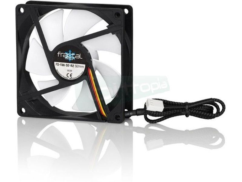 Fractal Design Silent Series R2 92x92x25 - Ventilador de 90mm. 1300RPM. 12,5dBA. 24,6CFM. 3-pin.