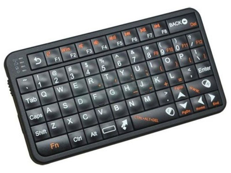 Air Mouse Keyboard Wireless. US Layout. Negro