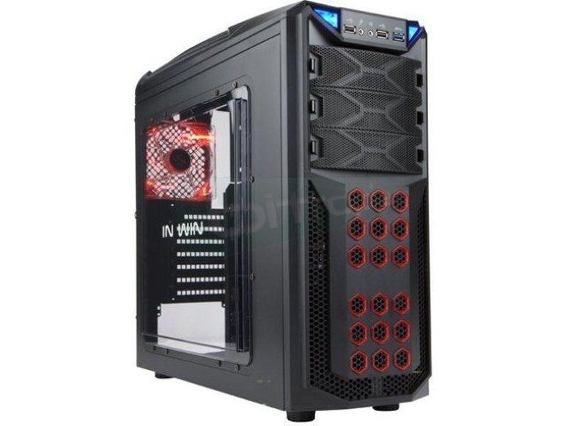 In Win GT1 Negra - Caja Semitorre de color negro. Conexiones: 1 x USB 3.0, 2 x USB 2.0 y Audio. Bahías externas: 3 x 5,25 . Bahías internas: 6 x 3,5/2 x 2.5.