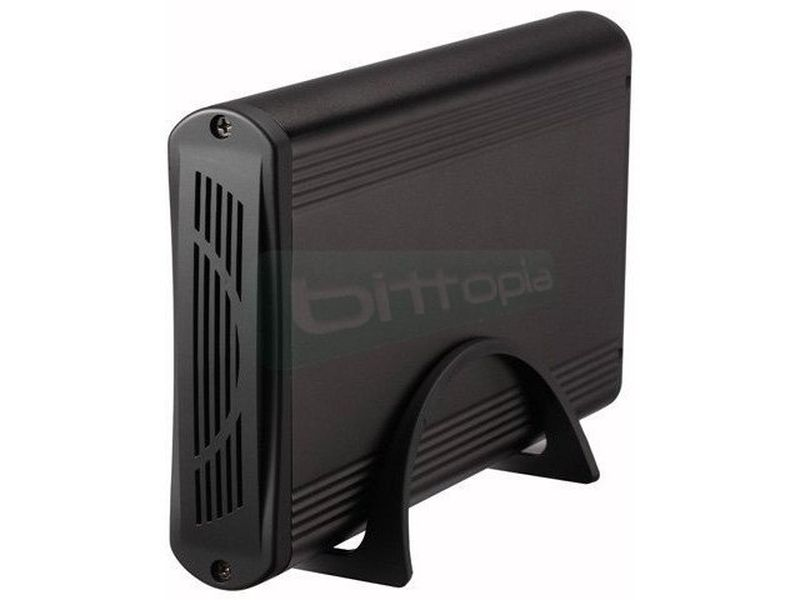 Tooq TQE-3526B. Caja externa HD 3.5 USB 3.0 Negra - Caja para discos duros SATA I/II/III de 3.5, hasta 3Tb. Conexión USB 3.0. Fabricada en aluminio de color negro.
