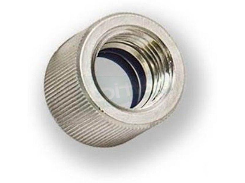 EK Adaptador Hembra EK-HD 12-10mm. Nickel - Adaptador (o racor) para el uso de tubo rígido, ya sea acrílico o de cobre.